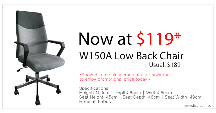 Lizo Office Furniture W150A Low Back Chair